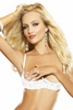 Shop women's white open cup shelf bra sexy lingerie.