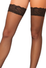 Shop these women's quality black fishnet thigh highs with lace