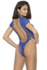Shop this women's blue teddy lingerie with open back
