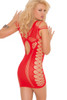 Shop women's red body stocking dress with cutout detail