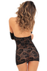 Shop this women's sheer black lace lingerie dress with underwire cups and off the shoulder sexy dress