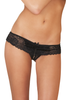 Shop this women's sexy black lace boyshort panty with open crotch