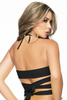 Shop this women's black wrap around top for rave and festival wear
