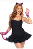 Shop this women's costume Halloween accessories featuring a leopard costume DIY kit featuring neon pink leopard pattern tail, gloves, and headband.