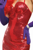 Shop this women's sexy Jessica Rabbit costume with red sequin dress