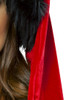 Shop this close up of a red velvet Santa hat