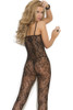 Shop this women's sexy black rose lace body stocking lingerie with open crotch