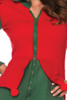 Red and green elf costume