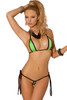 Shop women's micro lime green bikini with slit cups and slit crotch coverage.