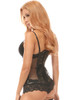 shop this leather steel boned underbust corset that features sheer mesh accents