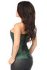Shop the best corsets online featuring this dark green overbust corset