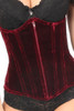 Shop this red velvet underbust corset that features the best corset at this corset store
