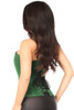 Shop this real corsets with glitter and green color