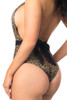 Shop this metallic leopard monokini with scrunch back and pinup style swimsuit