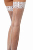 shop these stay up white fishnet thigh high stockings