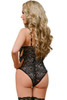 Shop this floral lace teddy with open cups