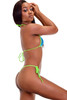 Women's sexy hot green and blue mesh g string bikini