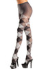 Shop black and grey argyle tights