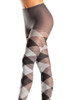 Shop grey argyle pantyhose