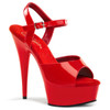 """Sexy red ankle strap pole dancing heels with 6"""" stiletto heel."""