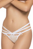 Shop this white lace panty with multi strap elastic sides and black satin bows