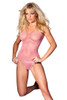 Shop this candy pink fishnet tank top with fishnet panty