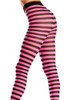 Shop these black and pink striped pantyhose with feet