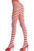 Shop these red and white striped pantyhose with feet