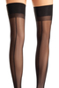 Shop these black opaque thigh high stockings with backseams