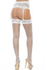 Stretch lace garter and thigh highs set