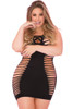 Cutout body stocking dress, plus size body stocking dress with laser cutout sides