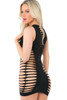 black stripper dress, black exotic dancer outfit