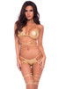 gold bra and panty set, gold stripper outfit, gold exotic dancer outfit