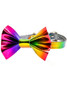 Shop this women's choker that features a rainbow bow tie choker