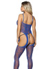 blue crotchless lingerie, blue lingerie crotchless bodystocking
