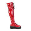 """Women's   with 2"""" Platform Over/the/Knee Boots by the brand Demonia"""