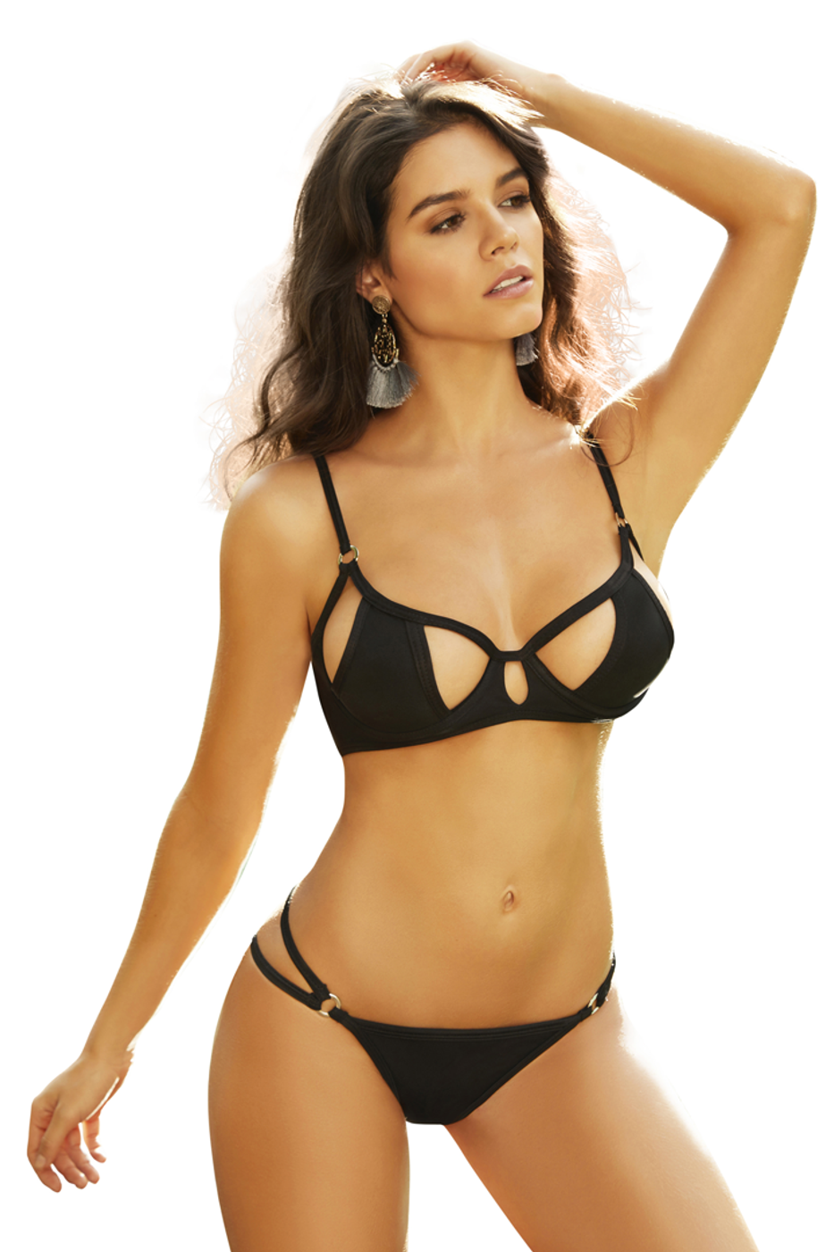 589799419a Shop this women s black cutout underwire bikini top with cutout cups and  sexy bra design and