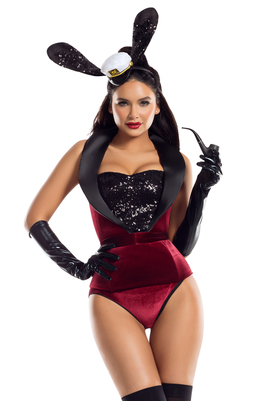 09e45de06 Shop this women s red velvet bunny costume by Starline