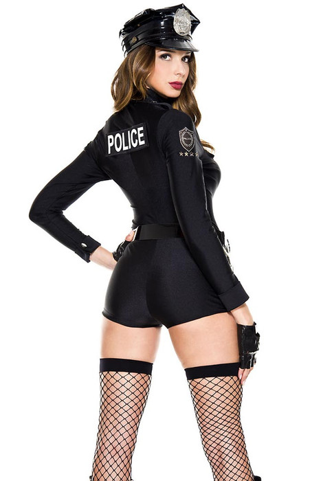 c466746aff57 ... Shop this women s sexy police woman costume with long sleeves cop  bodysuit ...