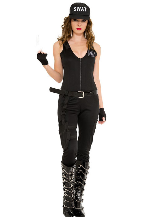 ... Shop this women's sexy police officer costume with sleeveless cop  bodysuit ...