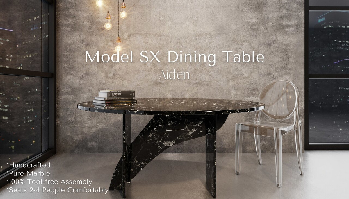 Picture of: Model Sx In Aiden Artisan Marble Dining Table