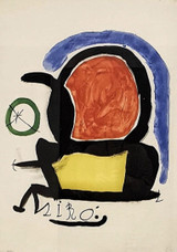 Joan Miro Original Miro Art Painting Feature #1