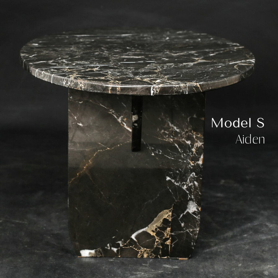 Aquila and Co Model S in Aiden Artisan Marble Coffee Table