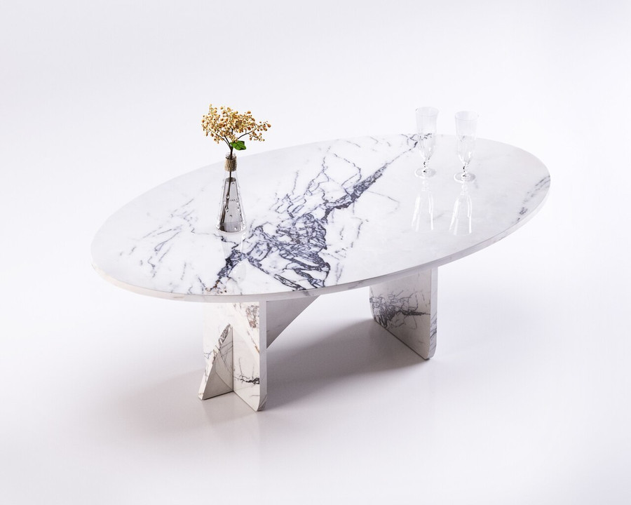 Aquila and Co Model S in Saragosi Artisan Marble Coffee Table