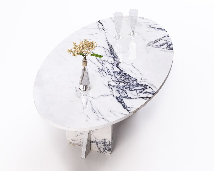 Aquila and Co Model SL in Saragosi Artisan Marble Coffee Table