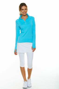 BloqUV Women's UPF 50+ Sun Protection Active Capri With Skirt