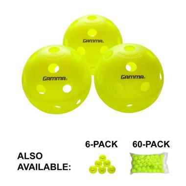 Gamma Sports Photon Indoor Pickleballs, 3 Pack