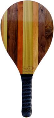 Frescobol Vero Solid Walnut, Poplar, Maple, Hickory, Cherry Wood Beach Paddle