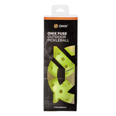 Onix Fuse G2 Outdoor Pickleball Ball (Neon, Box of 3)