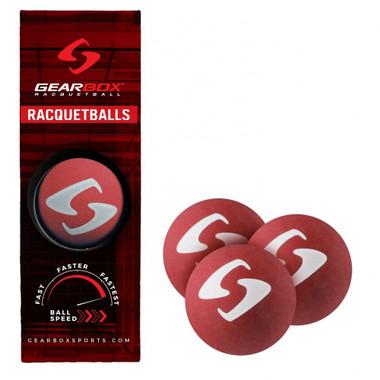 Gearbox Racquetball Balls-3 Ball Pack